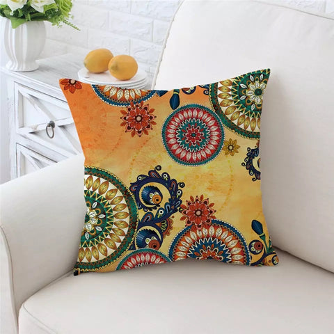 Mexican Mandala Cushion Cover