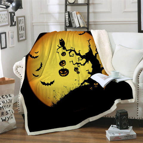 Halloween Tree Throw Rug