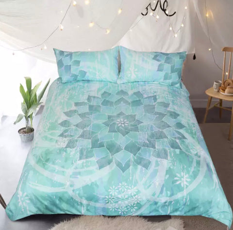 Green Mandala Bedding Set