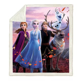 Frozen II's Cast Throw Rug