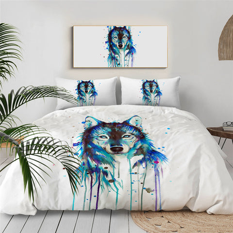 Ice Wolf By Pixie Cold Art Bedding Set