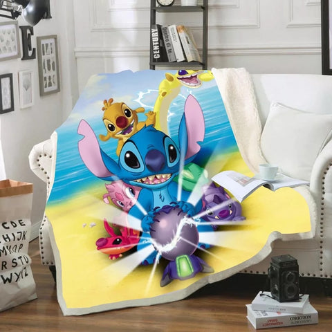 Stitch's Experimental Friends Throw Rug