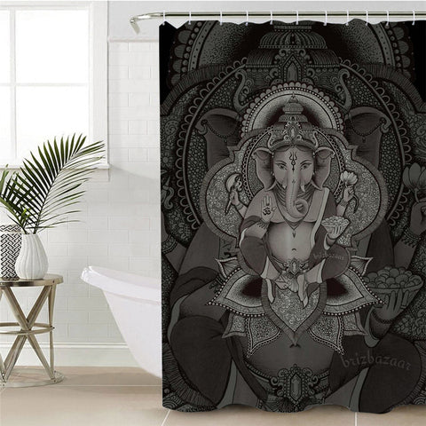 Boho Elephant By Brizbazaar Shower Curtain