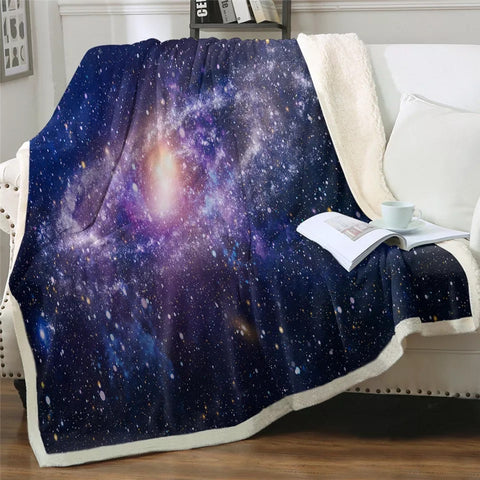 Purple Galaxy Throw Rug