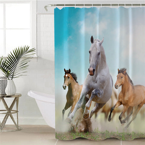 Running Horses Shower Curtain