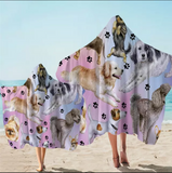Dogs Hooded Towel
