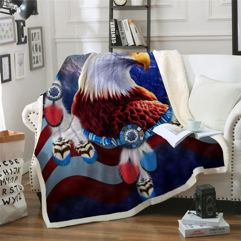 American Bald Eagle Dreamcatcher Throw Rug