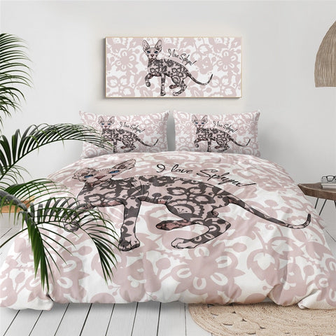 I Love Sphynx! Bedding Set