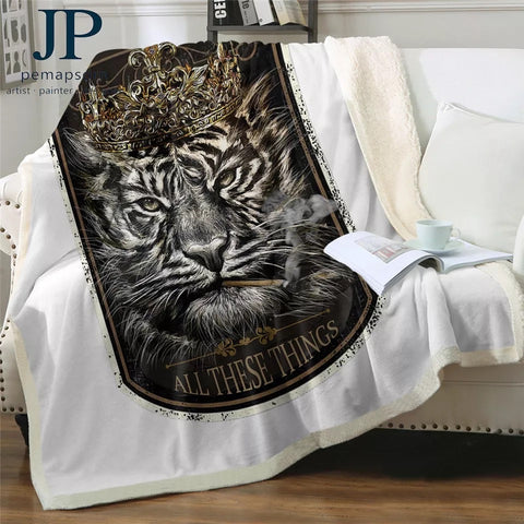 Tiger King By JP.Pemapsorn Throw Rug