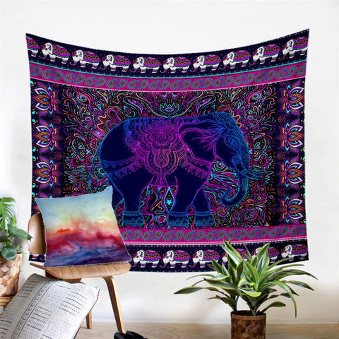 Elephant by Ismot Esha Wall Tapestry