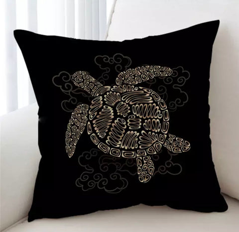 Golden Turtle Cushion Cover