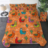 Colourful Argentina Llama Bedding Set