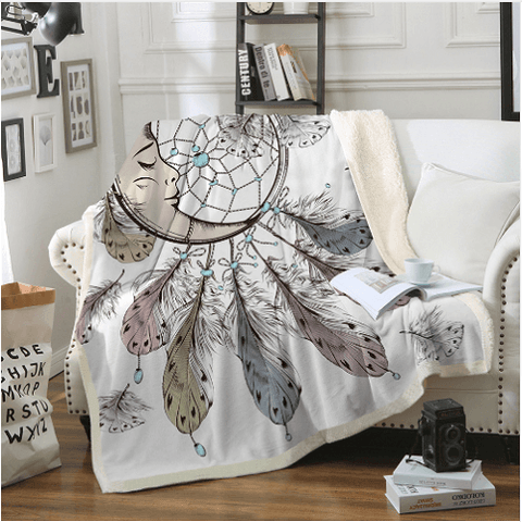 Moon Dreamcatcher Throw Rug