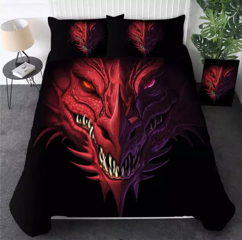 Red Dragon Bedding Set