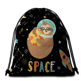 Sloth Space Round Towel