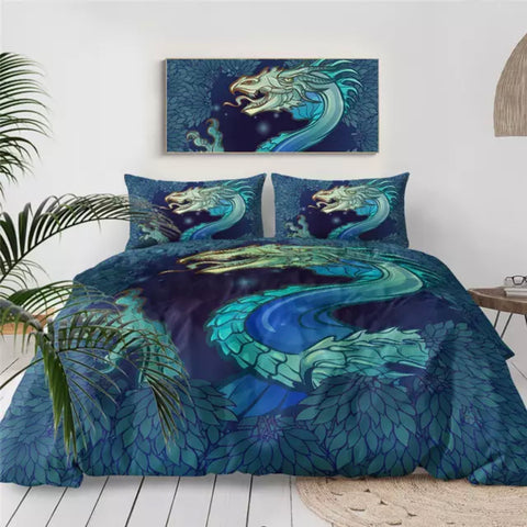 Green Dragon Bedding Set
