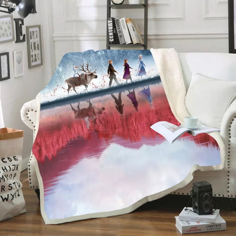 Frozen's Windy Adventure Throw Rug