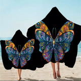 Artistic Butterfly Hooded Towel
