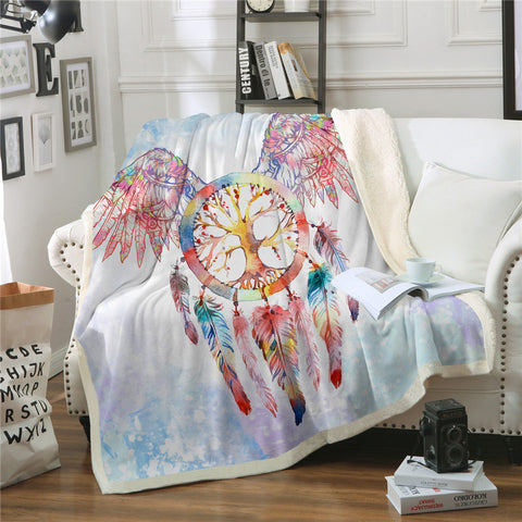 Winged Dreamcatcher Throw Rug