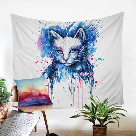 Space By Pixie Cold Art Wall Tapestry