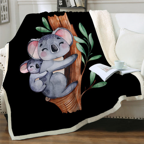Australian Koala Bear Throw Rug