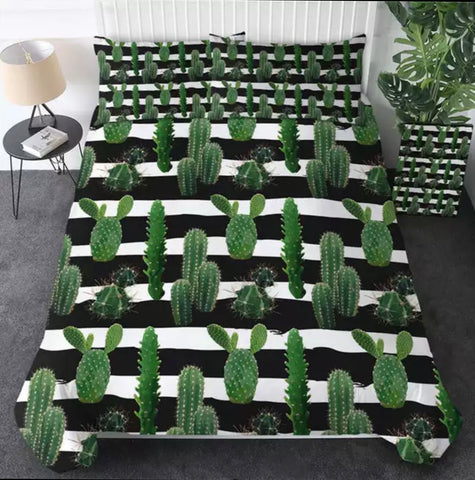 Lots Of Cactus Bedding Set