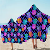 Neon Pineapples Hooded Towel