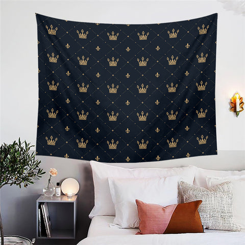 Golden Crowns Wall Tapestry