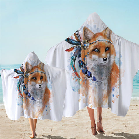 Indian Fox Hooded Towel