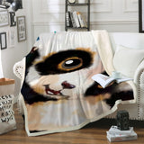 Panda Closeup Throw Rug