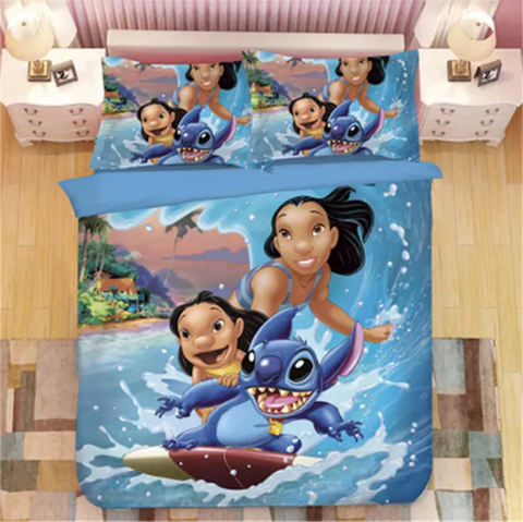 Lilo, Nani and Stitch Surfing Bedding Set