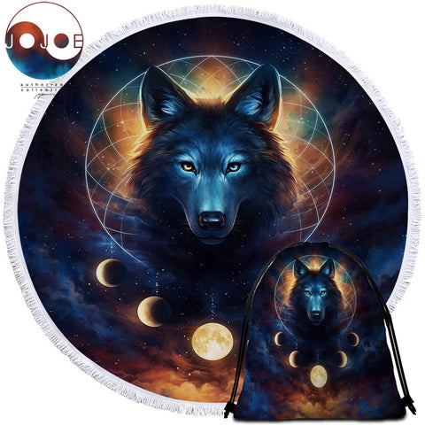 Dream Catcher By JoJoeArt Round Towel