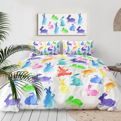 Watercolour Bunnies Bedding Set