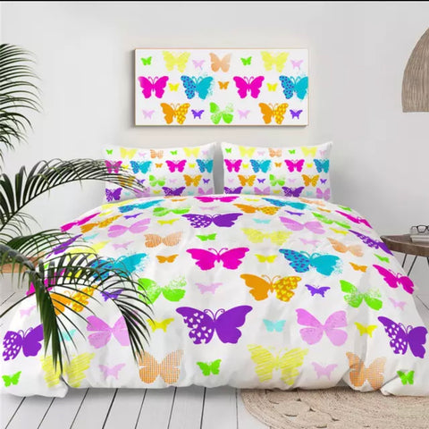 Different Styles Of Butterflies Bedding Set