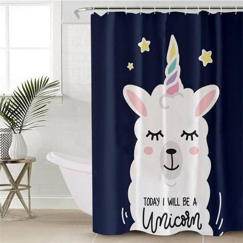 Today I Will Be A Unicorn Shower Curtain