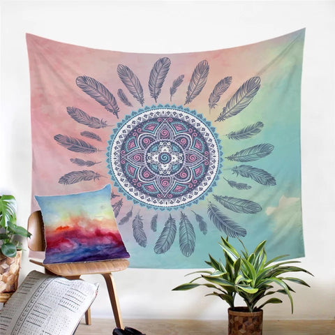 Pastel Dreamcatcher Wall Tapestry
