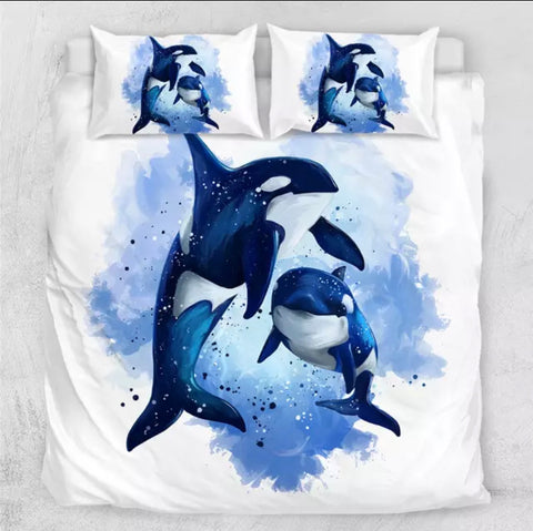 Ocra Whale Bedding Set