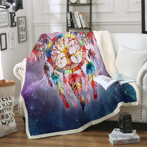 Winged Dreamcatcher (Galaxy) Throw Rug