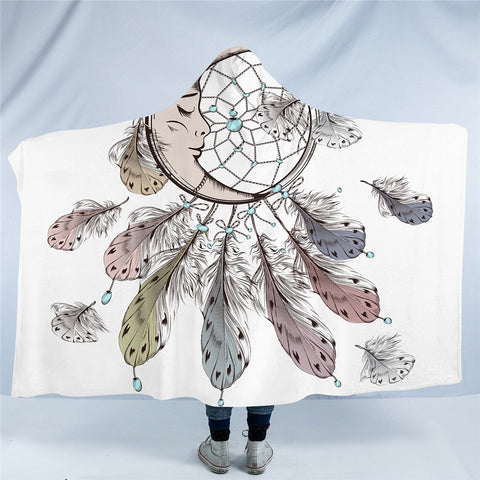 Moon Dreamcatcher Hooded Blanket