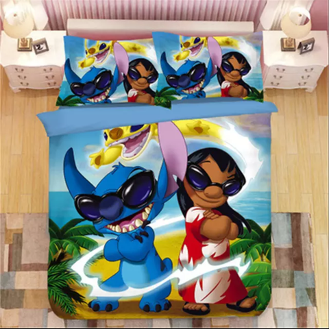 Lilo, Stitch and Sparky Bedding Set