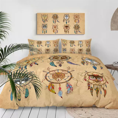 American Indian Animals Dreamcatchers Bedding Set