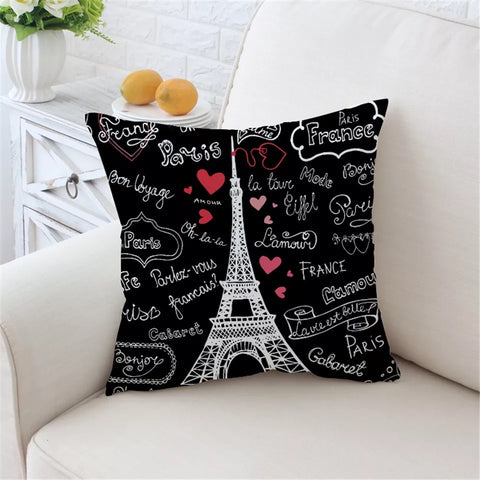 Paris France Cushion Cover