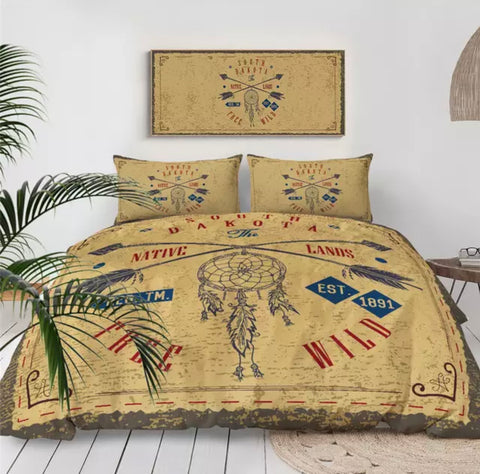 South Dakota Native Lands Bedding Set