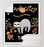 Follow Your Dreams Sloth Throw Rug