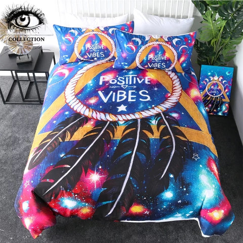 Positive Vibes By Pixie Cold Art Bedding Set