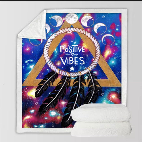 Positive Vibes Moon By Pixie Cold Art Throw Rug
