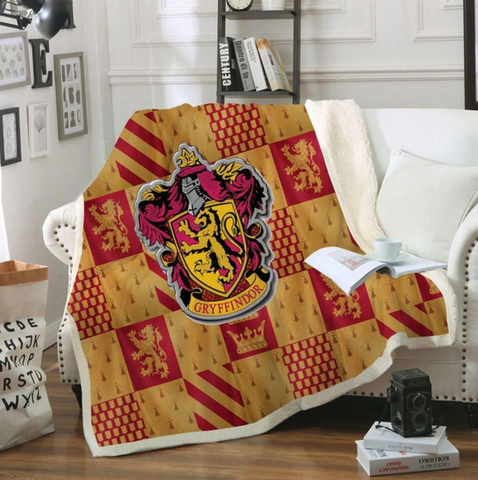 Gryffindor Checkered Throw Rug