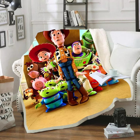 Toy Story Three Characters Throw Rug