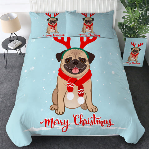 Reindeer Pug Bedding Set