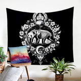 Panda (Black) By Pixie Cold Art Wall Tapestry